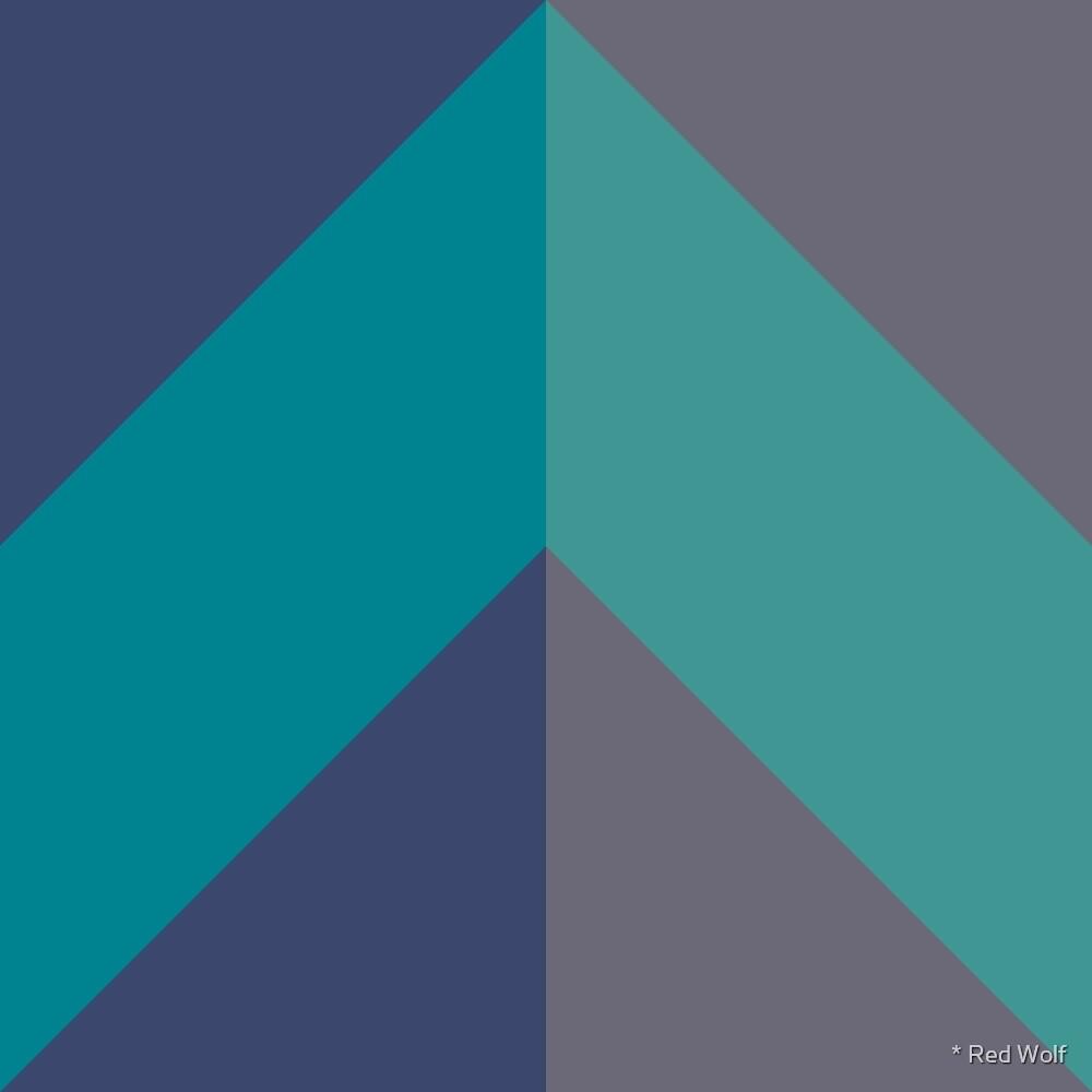 Geometric Pattern: Chevron: Ocean by * Red Wolf