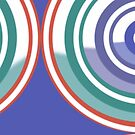 New System Seven Bolder Royal Blue Circular Abstract Design by Jenny Meehan by Jenny Meehan