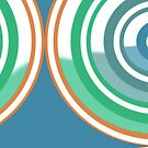 New System Eight Bolder Circular Abstract Design by Jenny Meehan by Jenny Meehan