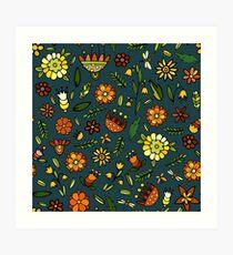 Evening meadow Art Print