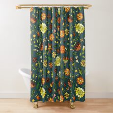 Evening meadow Shower Curtain