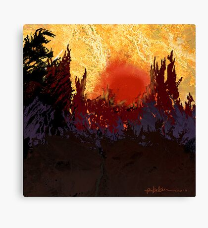 """Rising Sun"" Canvas Print"