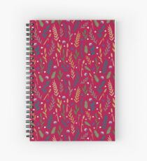 Pink field Spiral Notebook