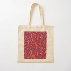 Pink field Cotton Tote Bag