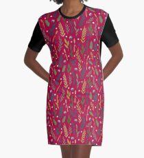 Pink field Graphic T-Shirt Dress