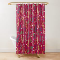 Pink field Shower Curtain
