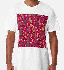 Pink field Long T-Shirt