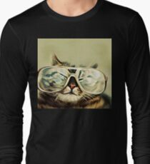 Cute Cat With Glasses T-Shirt