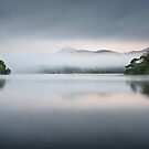 Misty Morning on Derwent Water in the Lake District by Chris McIlreavy