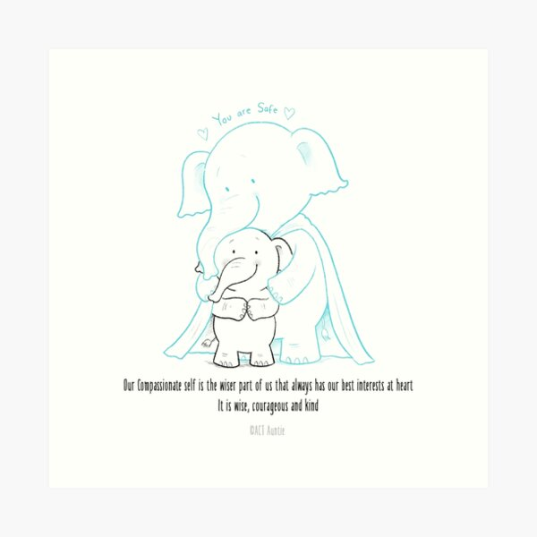 ACT Auntie Compassionate self Art Print