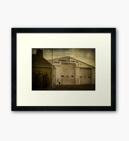 Lehman Vol. Fire Co. Framed Print