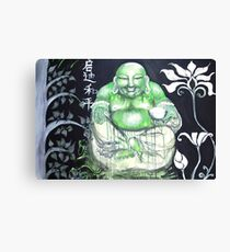 Laughing Buddha ~ Enlightened Path to Peace & Love Canvas Print