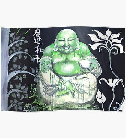 Laughing Buddha ~ Enlightened Path to Peace & Love Poster