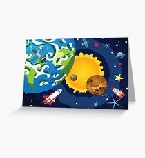 Earth Planet 2 Greeting Card