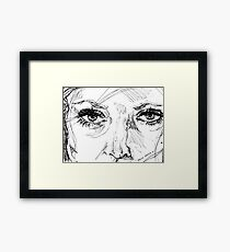 Engraved Ink Framed Print