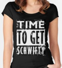 Rick and Morty Get Schwifty Lyrics Print Women's Fitted Scoop T-Shirt