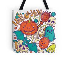 Halloween design with wicth stuff Tote Bag