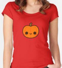 Cute Jack O' Lantern Women's Fitted Scoop T-Shirt