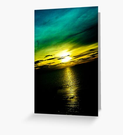 Pattaya Sunset Scenery: Thailand...Got Featured Work Greeting Card