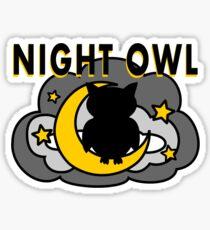 Owl Sitting on the Moon Sticker