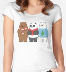 We Bare Bears Fitted Scoop T-Shirt