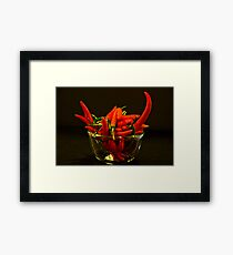 Spicy enough? Framed Print