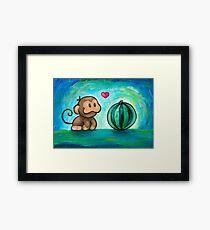 Ukiki, the Yoshi's Island Monkey! Framed Print