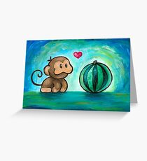 Ukiki, the Yoshi's Island Monkey! Greeting Card