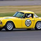 Yellow TR4 by Willie Jackson