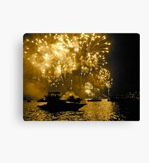 2011 New Years Fireworks - Sydney Harbour Canvas Print