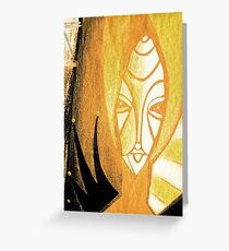 """soul are"" face Greeting Card"