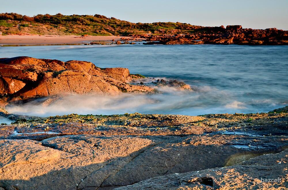 Anna Bay Sunset on the Rocks by bazcelt