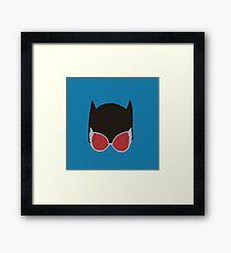 Cat Woman Goggles Framed Print