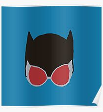 Cat Woman Goggles Poster