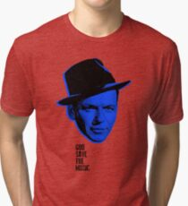 Ol' Blue Eyes #godsavethemusic Tri-blend T-Shirt