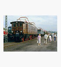 Locomotive display, Bochum, Germany, 1985. Photographic Print