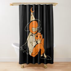 Pumpkin Witch Shower Curtain