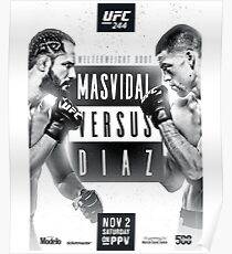 Jorge Masvidal Vs Nate Diaz Official UFC 244 Merch Poster