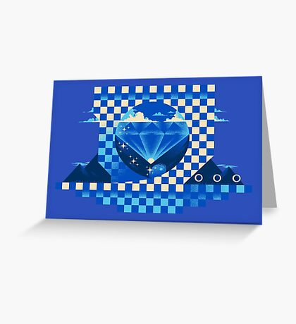 Chaos Emerald Greeting Card