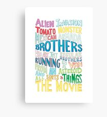 Rick and Morty Two Brothers Handlettered Quote Canvas Print