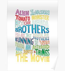 Rick and Morty Two Brothers Handlettered Quote Poster