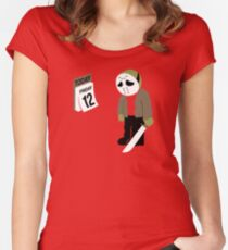 Friday The 13th Parody Women's Fitted Scoop T-Shirt