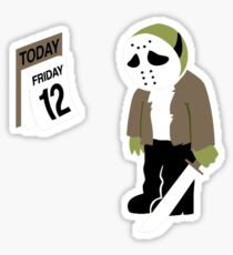 Friday The 13th Parody Sticker
