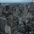 New York city at dusk by sumners