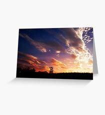 Sunset - Lynchburg Va Greeting Card