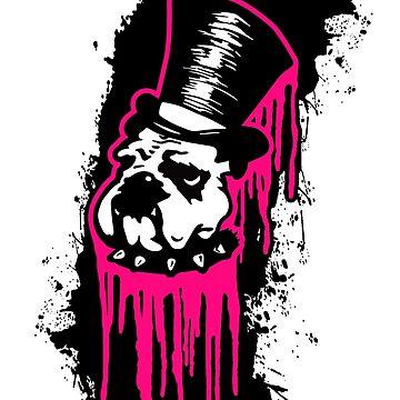 Punk Aristocrats - Dripping Grafitti Bulldog  by punkaristocrats