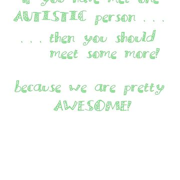 One Autistic Person - Confetti Letters - Dark Background by sparrowrose
