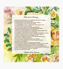 The Art of Marriage Photographic Print