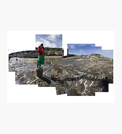 Photographing Mousehole with a Diana Camera Photographic Print