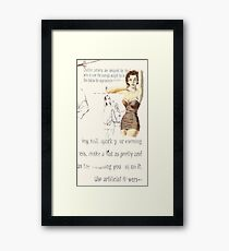 chubby girl, 2010 Framed Print